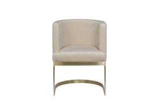 76AR-612GOLD-CR Chair on a metal frame light ...