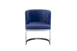 76AR-612-DB Chair on a metal frame dark blue ...