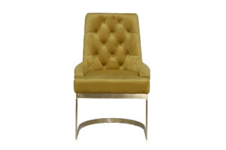 76AR-6210GOLD-OLV Chair with metal frame oliv...