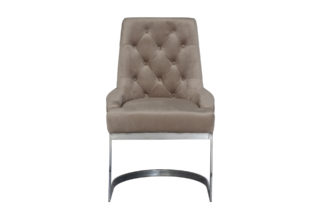 76AR-6210-BGR Chair on a metal frame beige-gr...