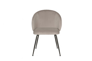 30C-1230 BGE Dining chair velour pearl gray 5...
