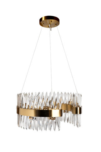 92EL-YG18739G-14P Glass chandelier (brass) d6...