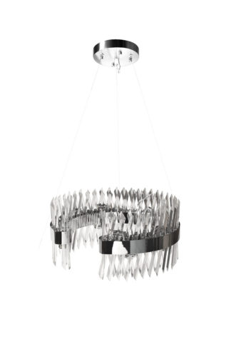 92EL-YG18739S-14P Glass chandelier (chrome) d...