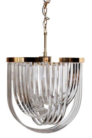 20MD3279-6G Chandelier glass/gold d54*64 cm