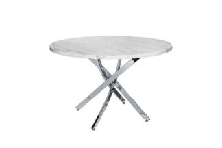 30F-911 Round white dining table d120*76 cm