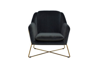 46AS-AR2976-GR Armchair on a metal frame velo...