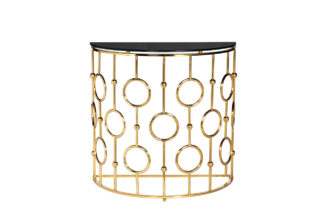 GY-CST8040GOLD Console black glass/gold 78*40...