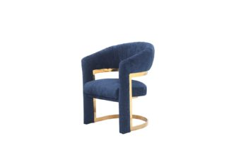 GY-DC8386GOLD-B Chair velour blue (gold) 67*6...