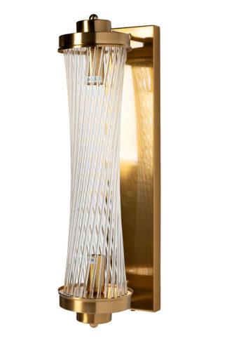 92EL-YG59026 Glass wall lamp (brass) 12*18*50...