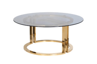 47ED-GDCT002 Coffee table dark glass/gold d10...