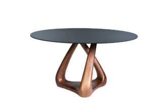 77IP-DT643 Round dining table with glass d140...
