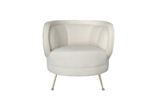 ZW-852 WH White armchair (boucle fabric) 77*7...