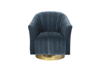 48MY-W2588 LTB GO Swivel armchair 360 blue ve...