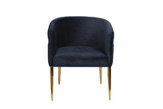 Chair velour blue/gold 67*69*78 cm