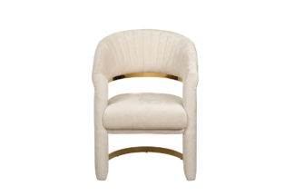 Chair velour cream/gold 67*66*85 cm