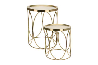 A79100090 Set of 2 coffee tables with metal t...