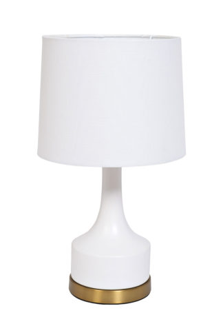 22-88456 Table lamp (white shade) 25*58*53 cm