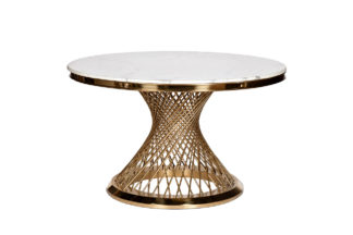 76AR-DT805 Dining table round artificial marb...
