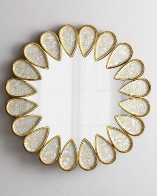 LH2020 Round mirror with natural pearl 80*80*...