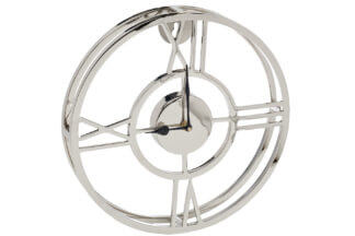 94PR-22153 Wall clock metal round chrome 50*5...
