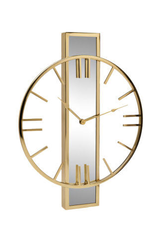 79MAL-5821-61G Wall clock with a mirror strip...