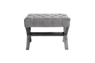 Neil GR Gray velour bench 65*50*49 cm