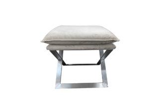 N-OT-188 BG Beige bench on a metal base 45*45...