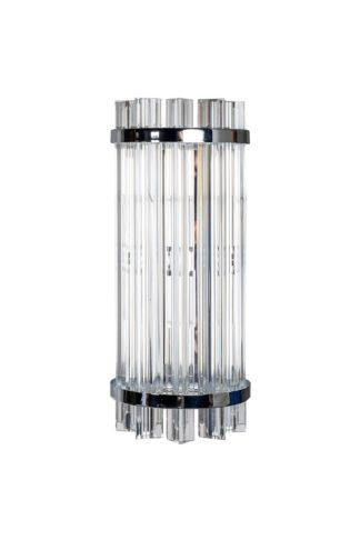62GDW-D007K5B/350CH Glass wall lamp (chrome) ...