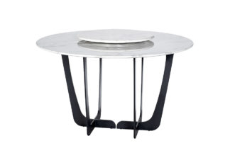 76AR-DT818 Dining table round artificial marb...