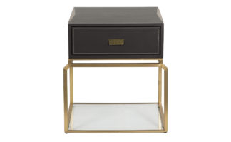 76AR-NS642 Bedside table brown/matte gold 58*...