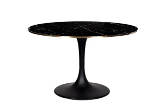 46AS-DT5042-BL Dining table with marble glass...