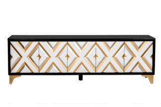 ART-2924-TV TV cabinet with diamond-shaped de...