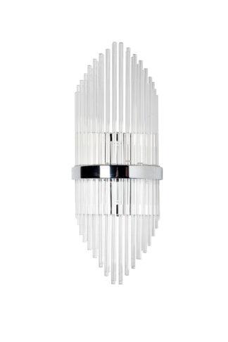 62GDW-901-550CH Sconce glass chrome 22*55 cm