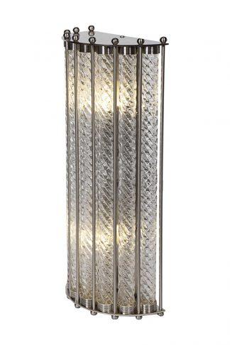 K2KG0907W-2 Sconce made of transparent glass ...