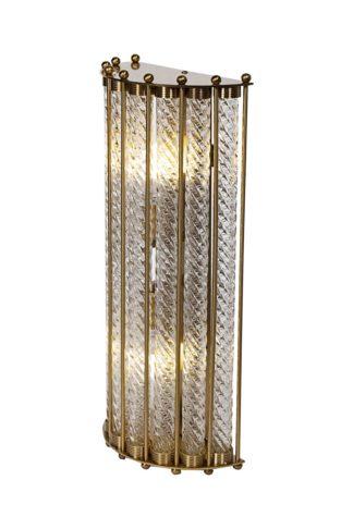K2KG0907W-2BR Sconce made of transparent glas...