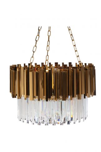 62GDM-81008-600 Chandelier with crystals (gol...