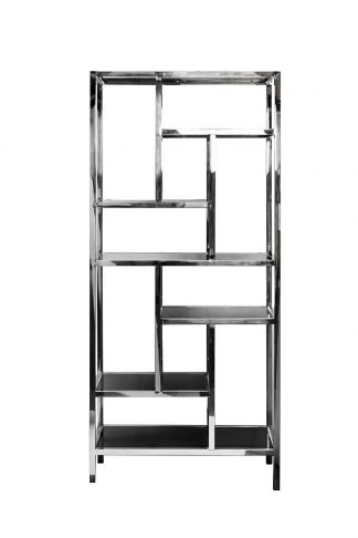46AS-SH1076-SILVER Shelving unit with black g...