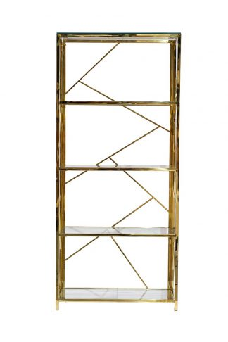 GY-SH8711GOLD Shelving unit with transparent ...