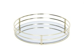 HZ1950130 Tray with gold sides 30cm