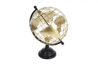 HZ2002800 Decorative golden globe on a metal ...