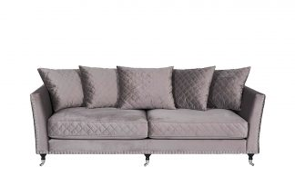 Sofa Sorrento 220 triple velour creme brulee