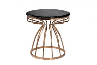 57EL-ET9008B Round coffee table (artificial m...