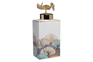 55RD4539L-WH Ceramic vase with lid white R...