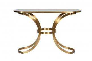 19-OA-6431 Console with glass top marbled 129...