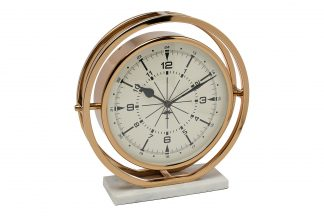 79MAL-5789-27G Round table clock on a stand 2...