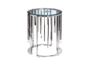 13RXET8077-SILVER Coffee table transparent gl...