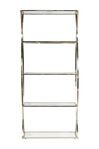 13RXSH3232-GOLD Rack transparent glass/gold 9...