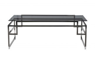 47ED-CT162BL Coffee table dark glass/dark chr...