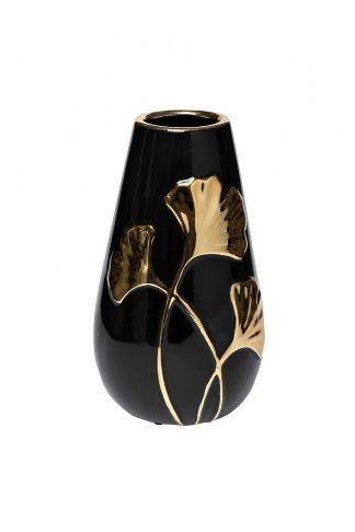 18H2817-20 Ceramic vase black with gold ̶...