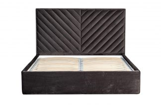 Bed Milano Basic gray with lifting mechanism ...